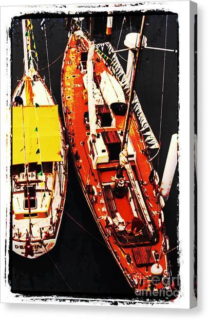 Moored Yachts Canvas Print