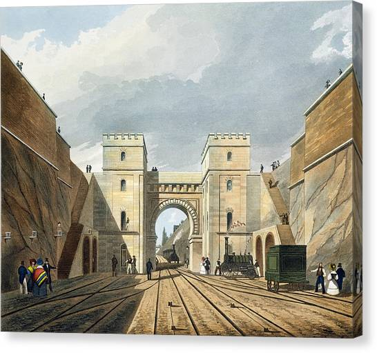 Train Canvas Print - Moorish Arch, Looking From The Tunnel by Thomas Talbot Bury