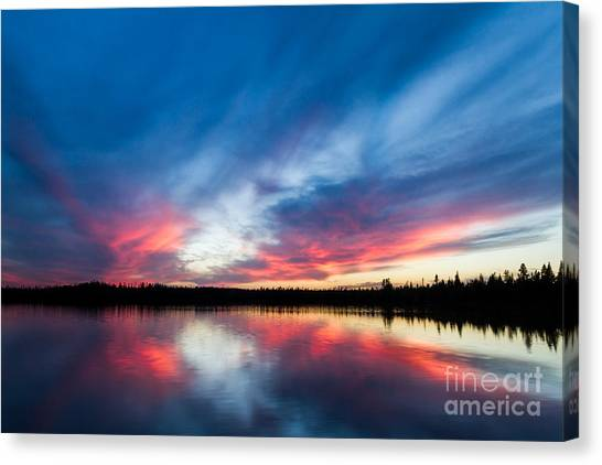 Moose Lake Sunset Canvas Print