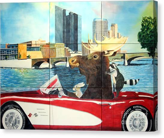 Moose Rapids Il Canvas Print