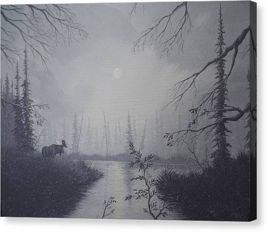 Moose Swanson River Alaska Canvas Print