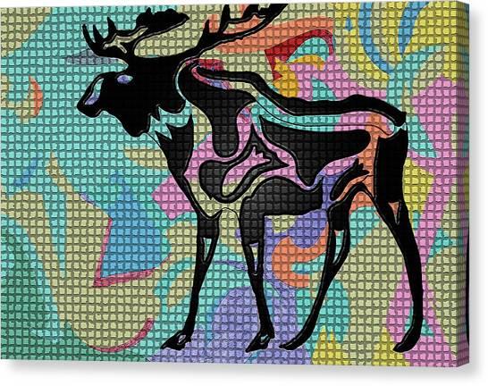 Moose Tracks Canvas Print