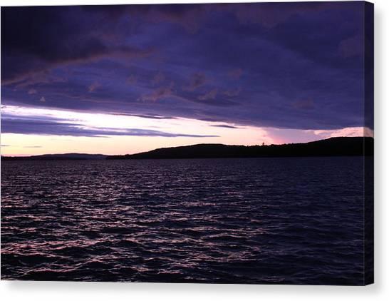 Moosehead Lake Sunset Canvas Print by Ryan Hord