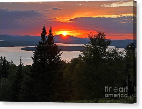 Mooselookmeguntic Sunset Canvas Print