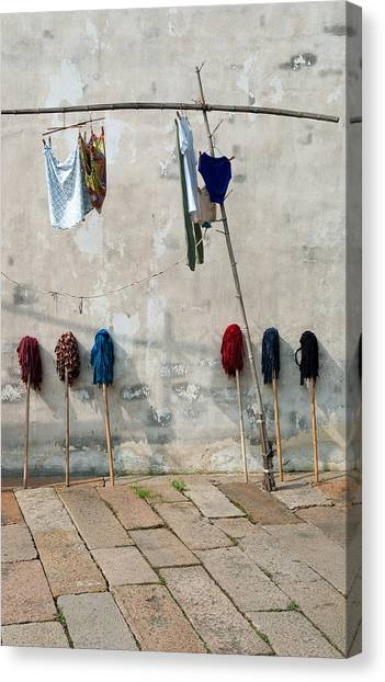 Mops And Laundry 1  Wuzhen China Canvas Print