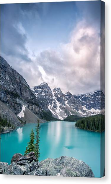 Moraine Cloud Burst Canvas Print