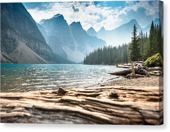 Moraine Lake In Banff National Park - Canada Canvas Print by Franckreporter