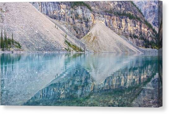 Moraine Lake Panorama A Canvas Print