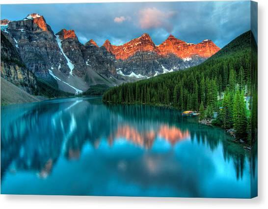 Alberta Canvas Print - Moraine Lake Sunrise by James Wheeler