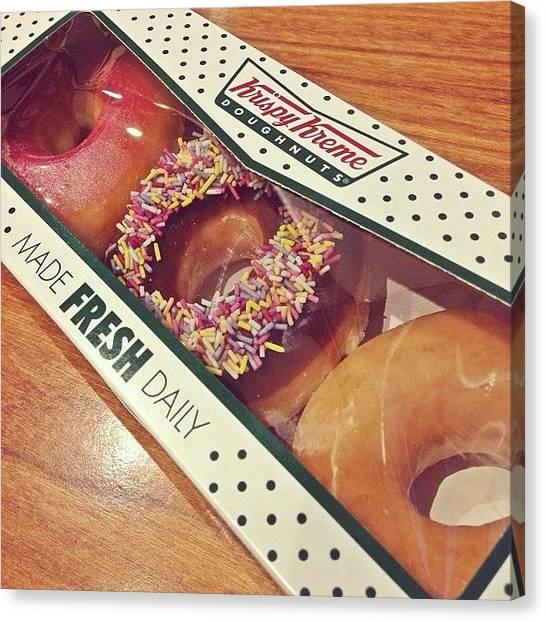 Doughnuts Canvas Print - More Cheats 🙈🍩😋 #krispykremes by Sapna Jadhav
