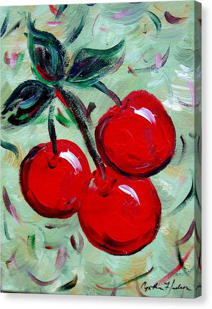 More Cherries Canvas Print by Cynthia Hudson
