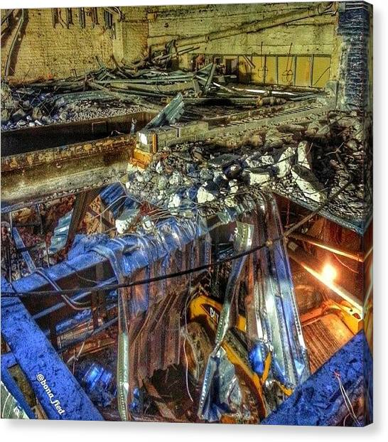 Machinery Canvas Print - More Controlled Chaos. Bringing Down by Brian Lyons