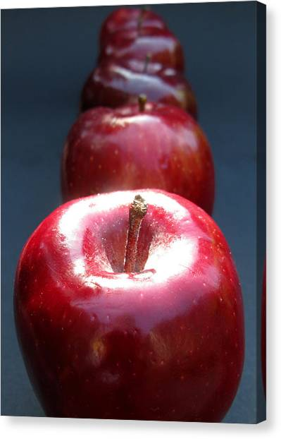 Canvas Print featuring the photograph More Red Apples by Helene U Taylor