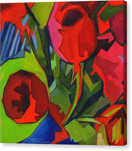 More Red Tulips  Canvas Print