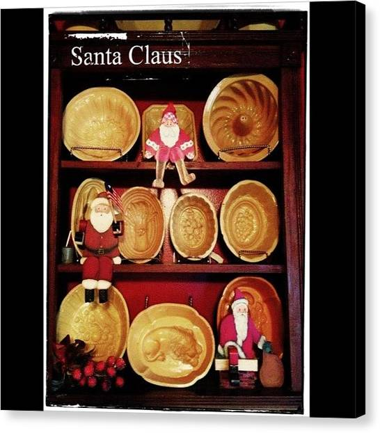 Holidays Canvas Print - More Santas From My Collection. Made By by Teresa Mucha