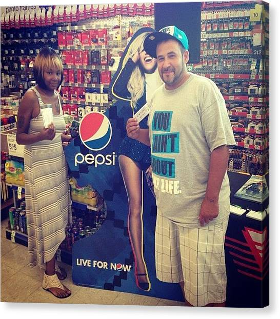 Pepsi Canvas Print - More Winners With #fm98 #wjlb #pepsi by Jim Jones