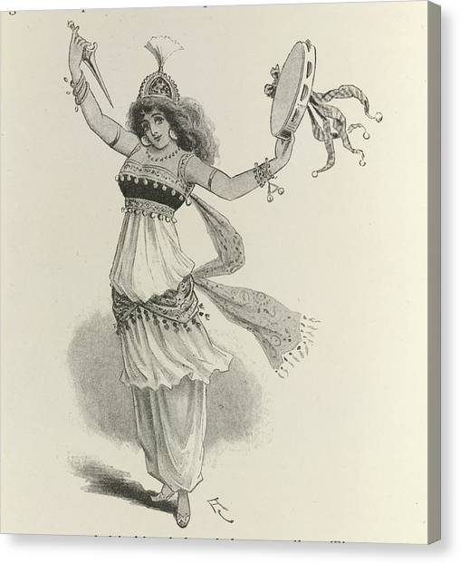 Tambourines Canvas Print - Morgiana by British Library
