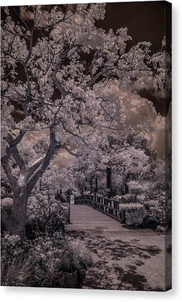 Morikami Gardens - Bridge Canvas Print