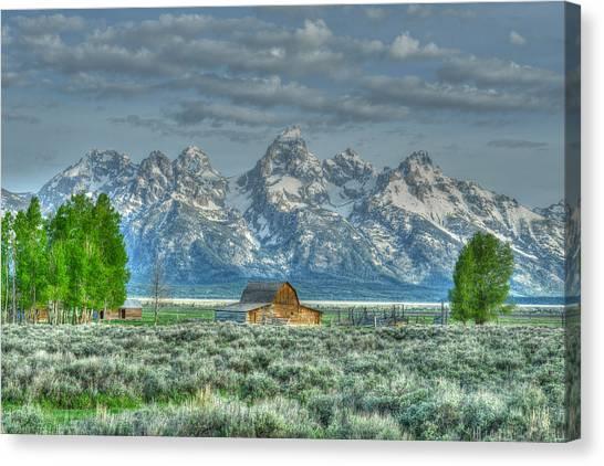 Mormon Barn Spring Canvas Print