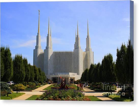 Mormon Temple Dc Canvas Print