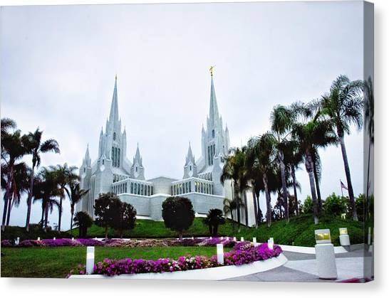 Mormon Temple La Jolla Canvas Print