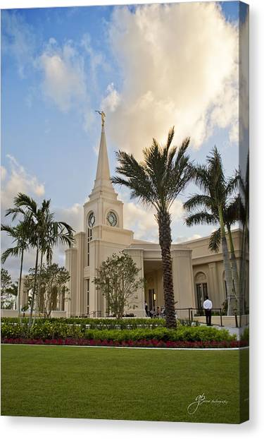 Mormon Temple Canvas Print