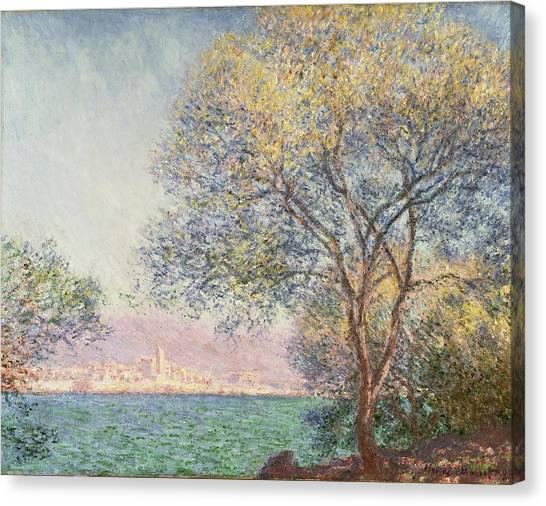 Canvas Print featuring the painting Morning At Antibes by Claude Monet