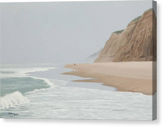 Morning At Pomponio 2 Canvas Print