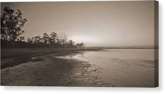 Morning At The Lake Canvas Print by Gordon  Grimwade