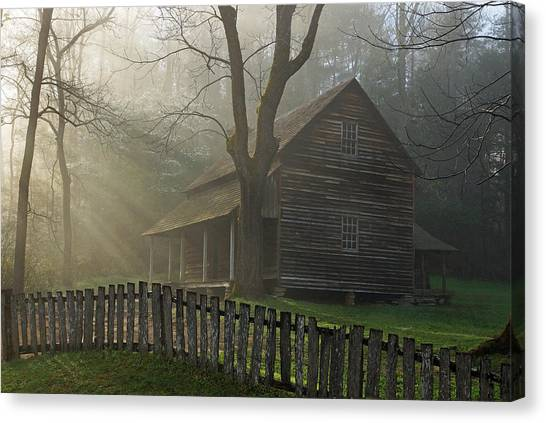 Morning At The Tipton Place Canvas Print by Deb Campbell