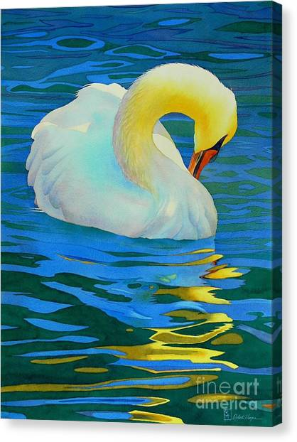 Wetlands Canvas Print - Morning Bath by Robert Hooper