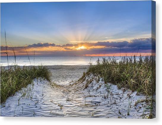 Florida House Canvas Print - Morning Blessing by Debra and Dave Vanderlaan