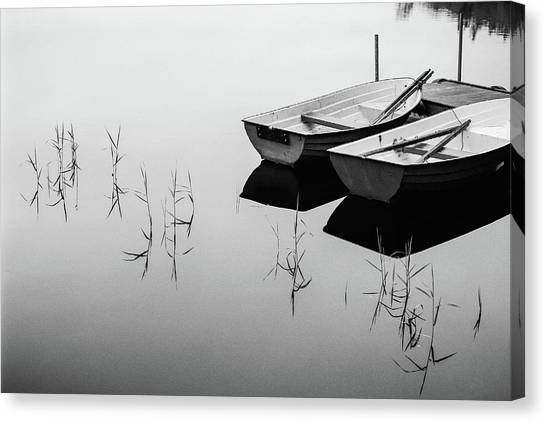 Calm Canvas Print - Morning By The Lake by Mats Persson