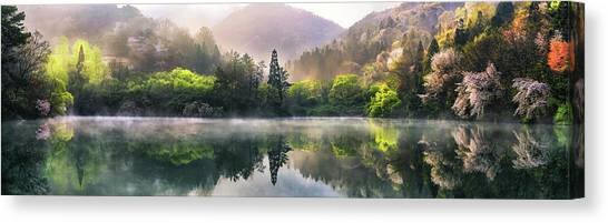 Morning Calm Canvas Print by Tiger Seo