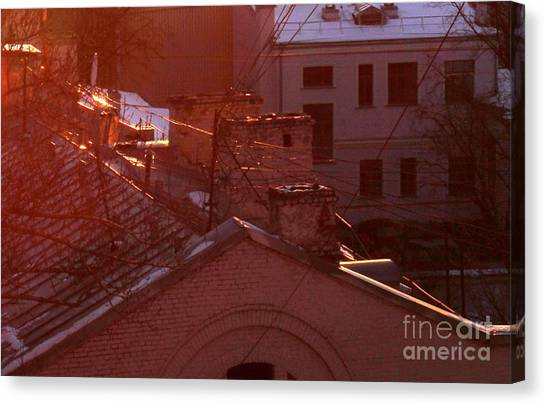 Moscow Skyline Canvas Print - Morning Came by Anna Yurasovsky