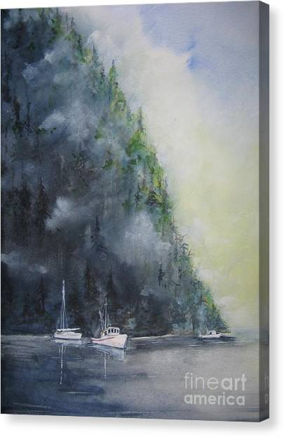 Morning Cast Off Canvas Print