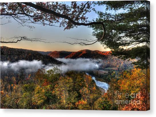 Morning Cheat River Valley Canvas Print