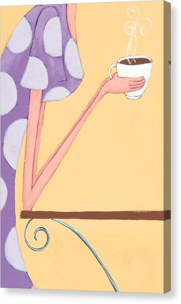 Coffee Canvas Print - Morning Coffee by Christy Beckwith