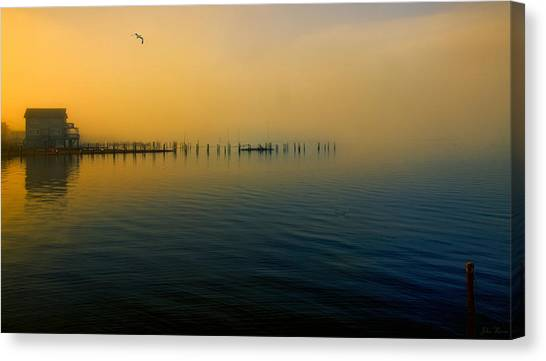 Morning Comes On The Bay Canvas Print