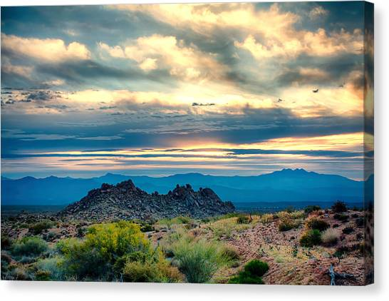 Morning Desert Glow Canvas Print