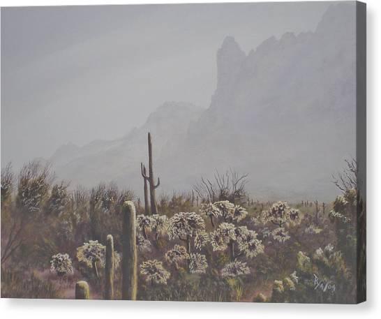 Morning Desert Haze Canvas Print