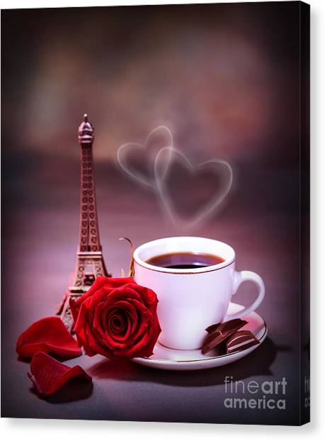 Sweet Tea Canvas Print - Morning Drink In Paris by Anna Om