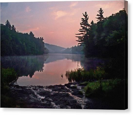 Morning....... Egypt Pond Canvas Print