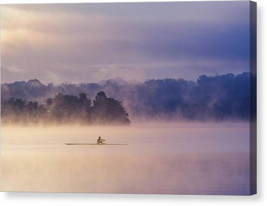 Marshes Canvas Print - Morning Exercise by ??? / Austin