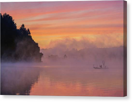 Fishing Boats Canvas Print - Morning Fishing by ??? / Austin