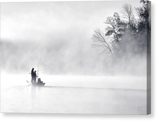 Marshes Canvas Print - Morning Fishing 5 by Eric Zhang