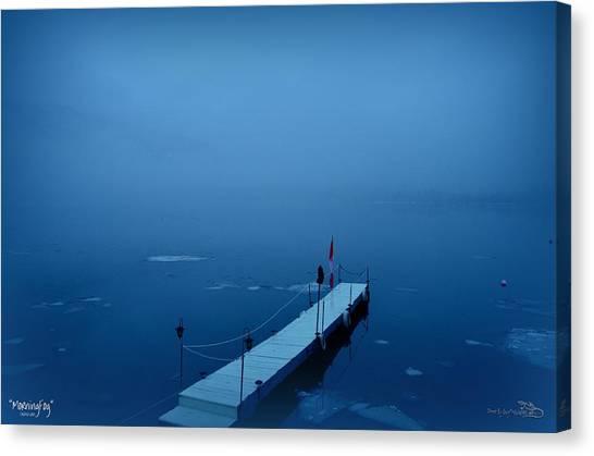 Morning Fog 001 - Skaha Lake 03-06-2014 Canvas Print