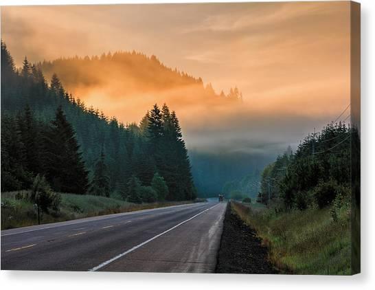 Morning Fog In Oregon Canvas Print