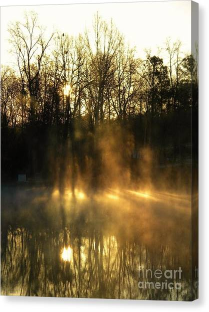 Morning Fog Rising Canvas Print