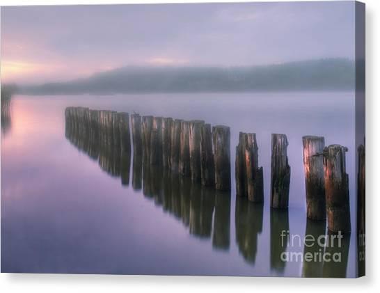 Painterly Canvas Print - Morning Fog by Veikko Suikkanen